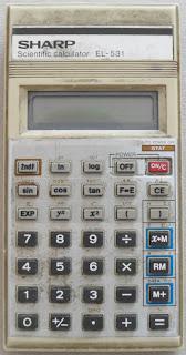 SHARP EL531 tudományos számológép