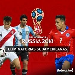 Apuestas para las eliminatorias al Mundial de Rusia 2018 en Sudamerica CONMEBOL