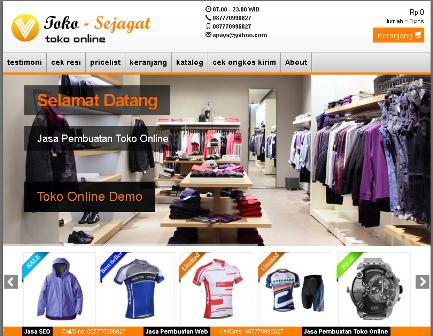 Jasa Pembuatan Website toko online murah