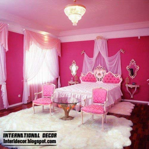 luxury girls bedroom pink ideas 2014