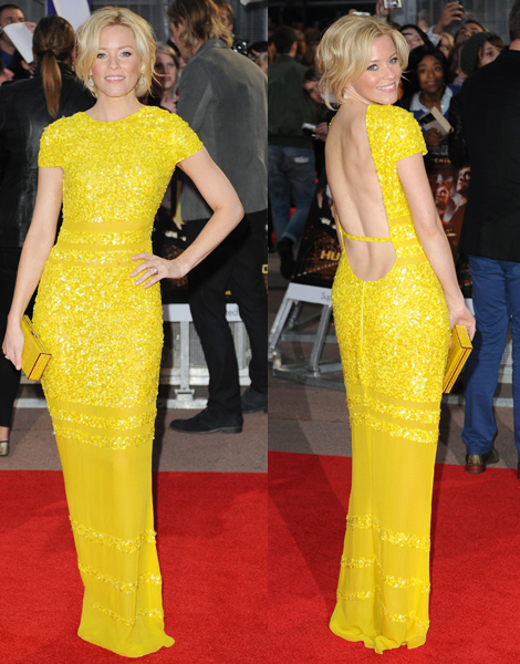 Elizabeth Banks on Hunger Games European Movie Premiere