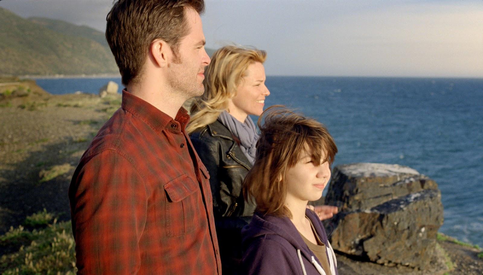 Chris Pine, Elizabeth Banks, and Michael Hall D'Addario