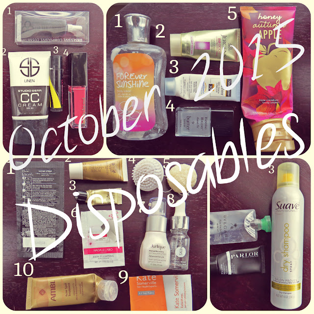 October 2015 Disposables