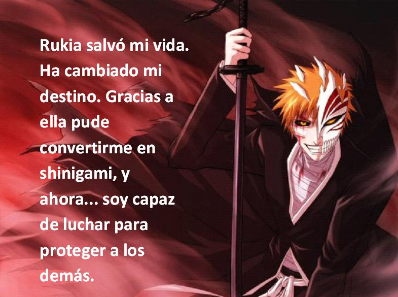 Frases con fotos del anime. ICHIGO4