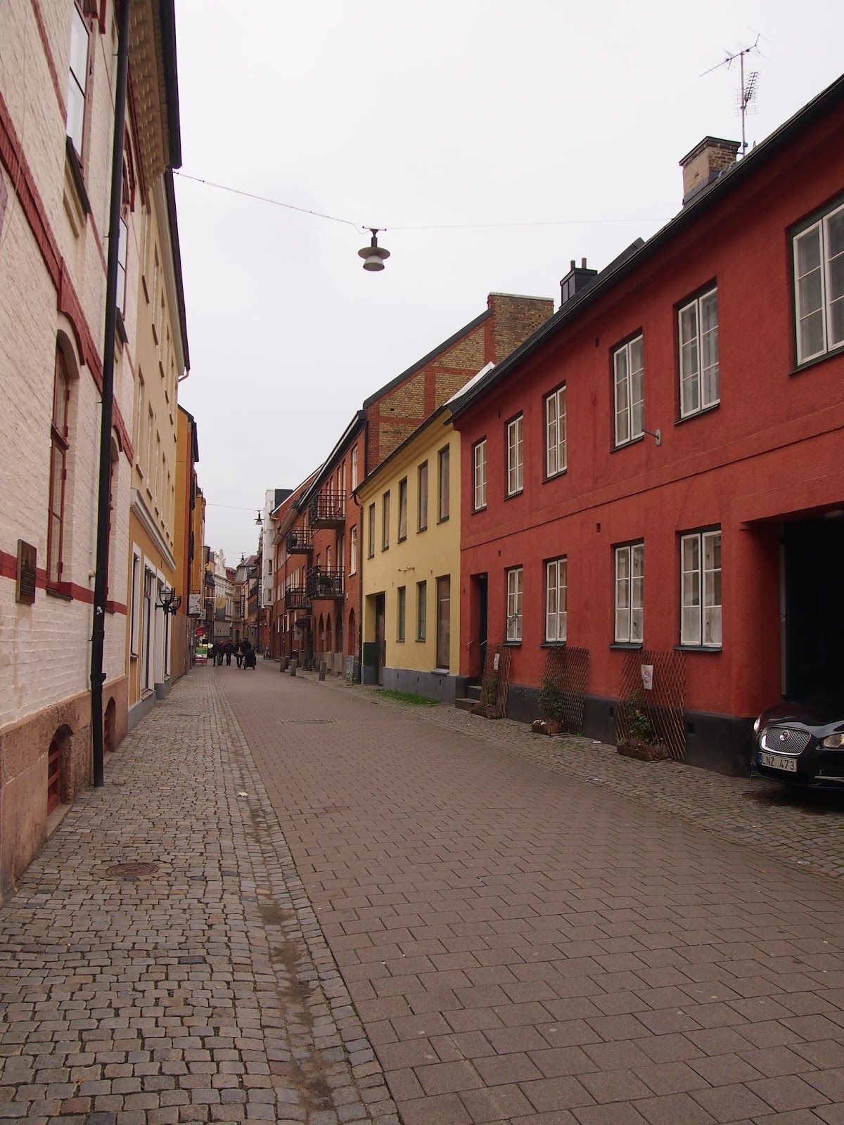 the empty streets of Malmo old town