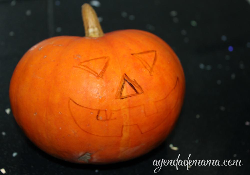 Pinta el diseño de tu calabaza de halloween
