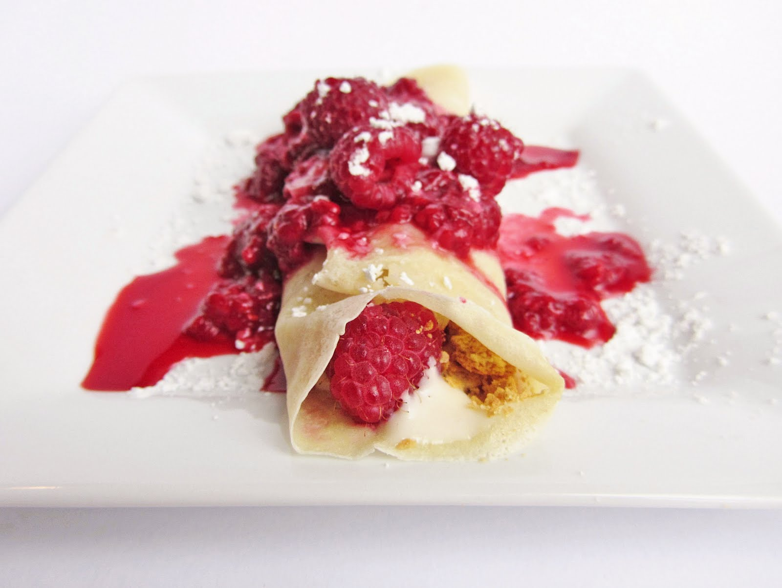 raspberry cheesecake crepes