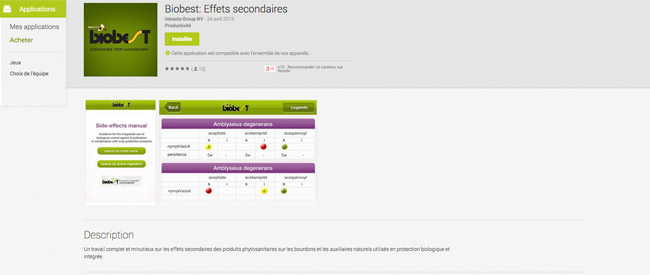 Biobest: Effets secondaires