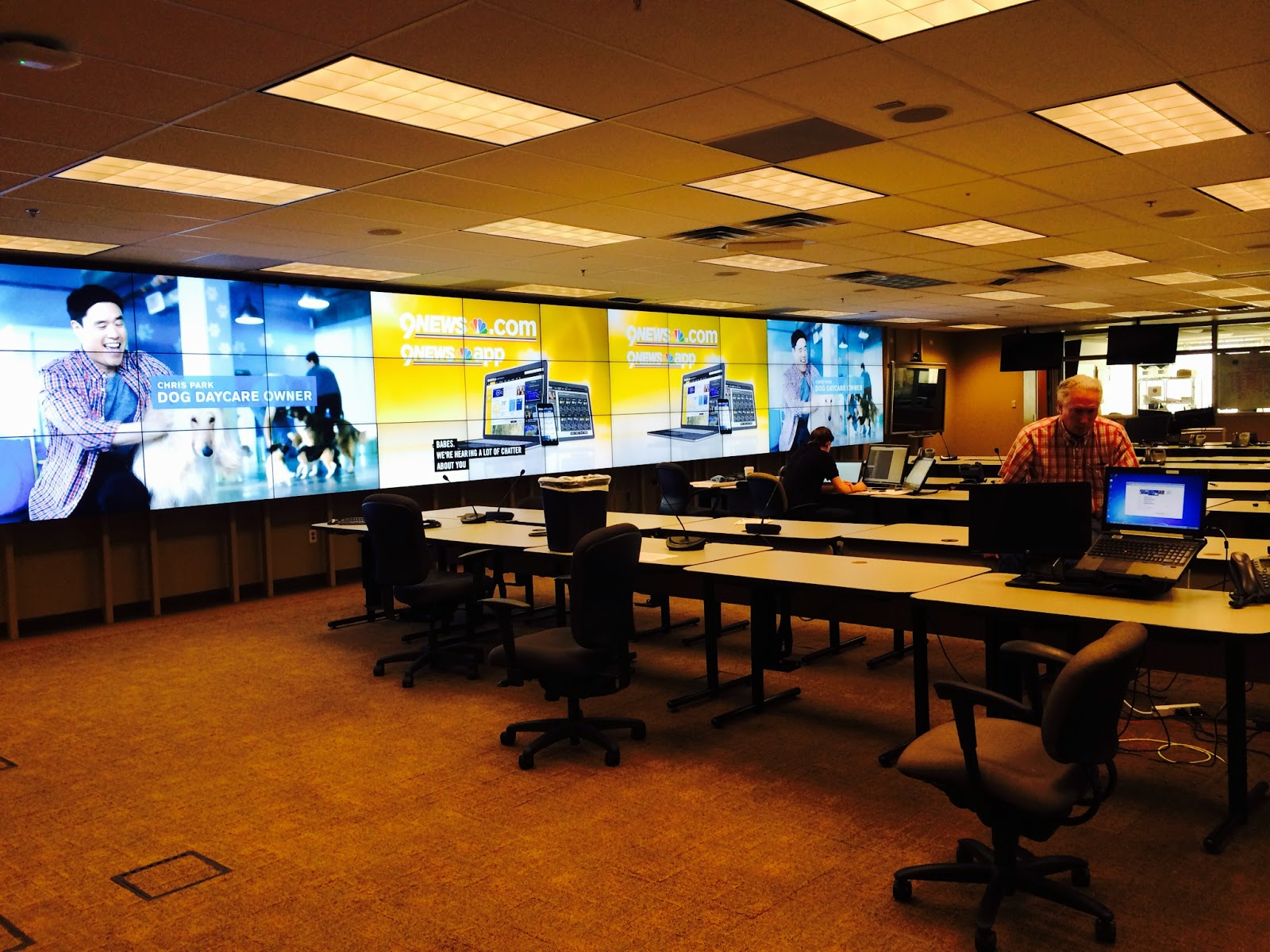 Picture of State EOC final set up of computers at each work station.
