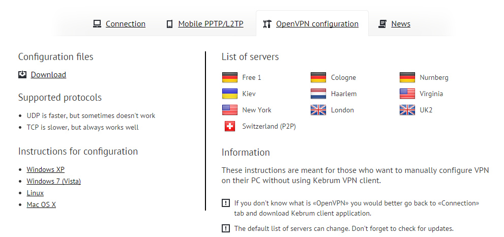 Nmd vpn config files free