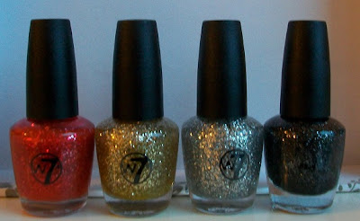 W7 mini glitter polish assortment