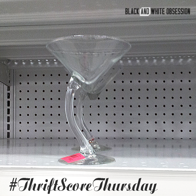 #thriftscorethursday Week 25: Swanky Martini Glass | www.blackandwhiteobsession.com