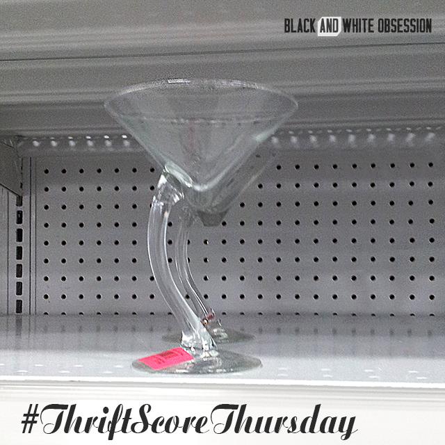#thriftscorethursday Week 25: Swanky Martini Glass | www.blackandwhiteobsession.com