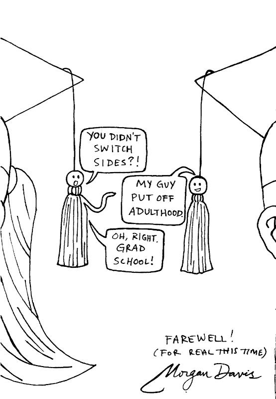 morgan cartoons  graduation cartoon