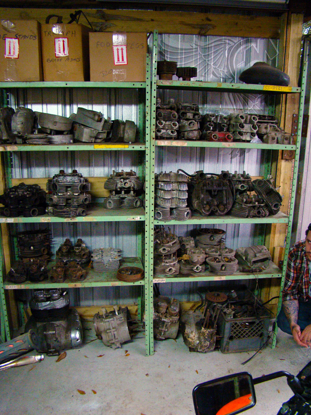 thousands of british motorcycle engine parts