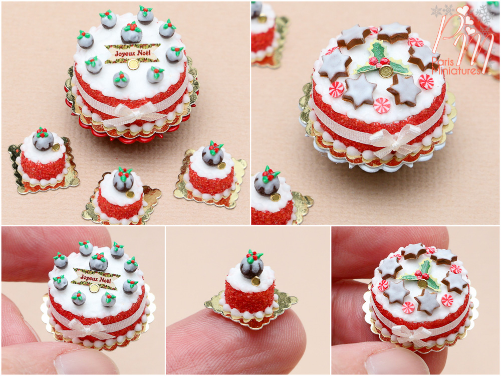 new christmas miniature cakes now on etsy - Christmas Miniatures