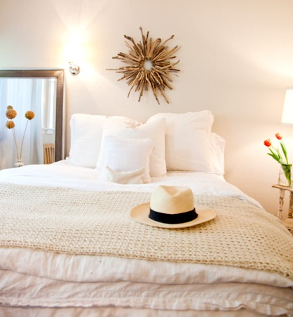 white beach bedroom