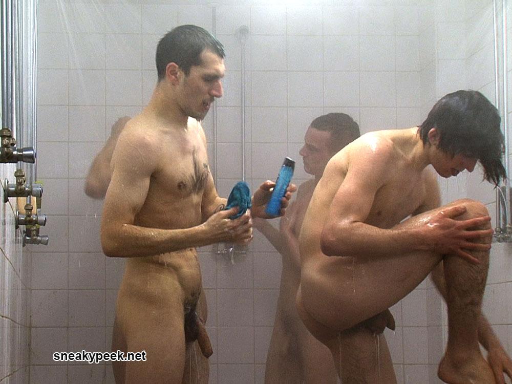in naked soccer shower men