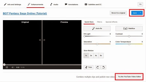 Cara upload dan edit video youtube 3