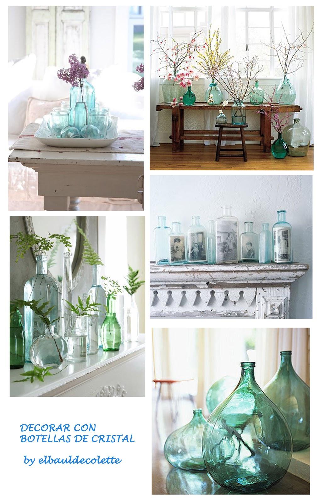 Idea and blog decorar con botellas de cristal - Decorar botellas de cristal ...