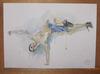 breakdance water painting by metris