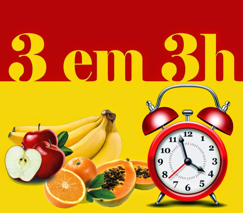 reeducação alimentar - frutas de 3 em 3h