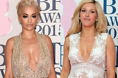 Rita Ora Ellie Goulding hot cleavage