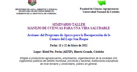 C rdoba forestal seminario taller manejo de cuencas para for Manejo de viveros forestales