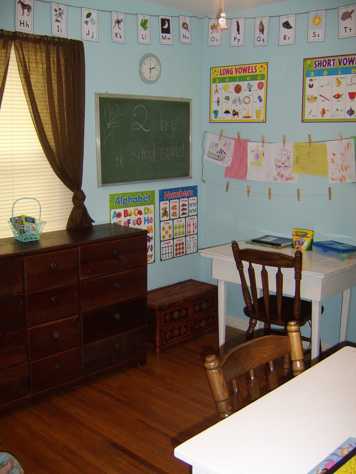 Stringer Mama Organization Homeschool Room