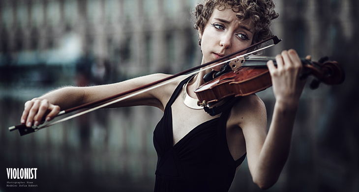 Das sheep playing violin - portrait photography