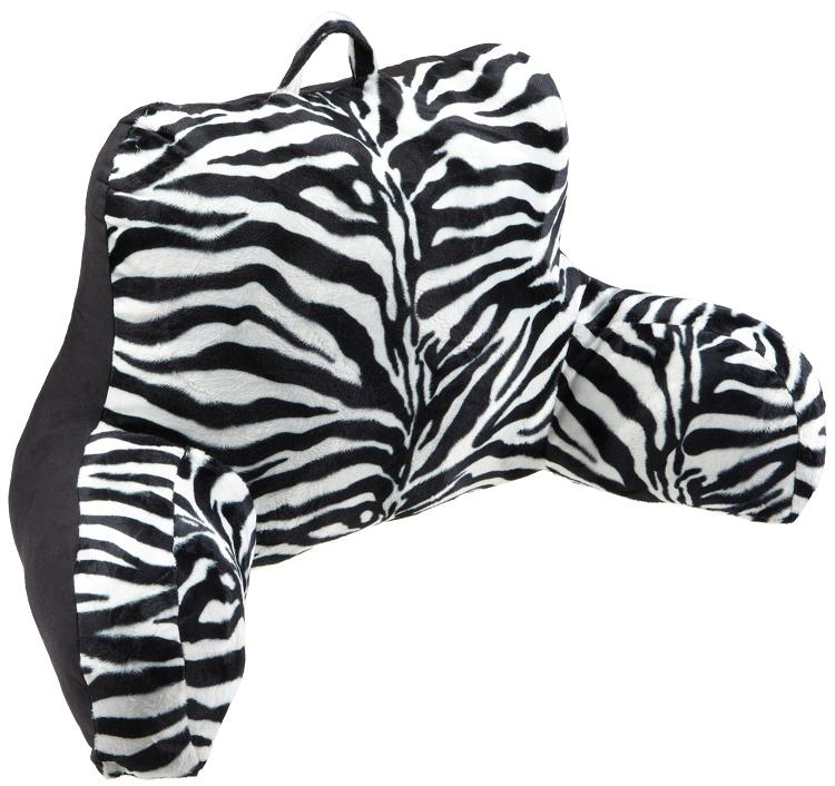 Zebra print office desk chair comes with adjustable back depth and