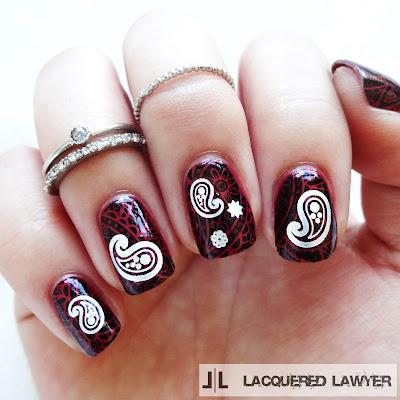 Pristine Paisley Nails