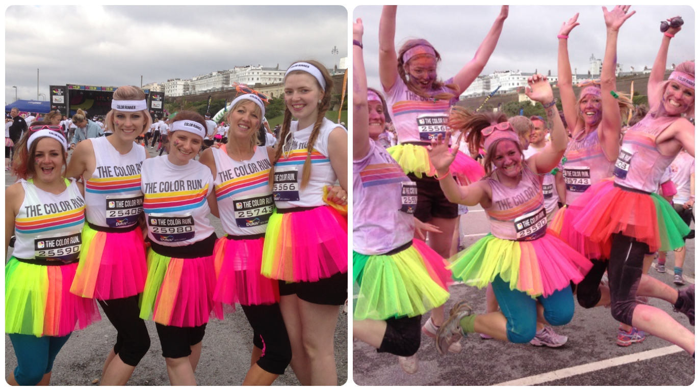 Brighton Color Run before and after 2013