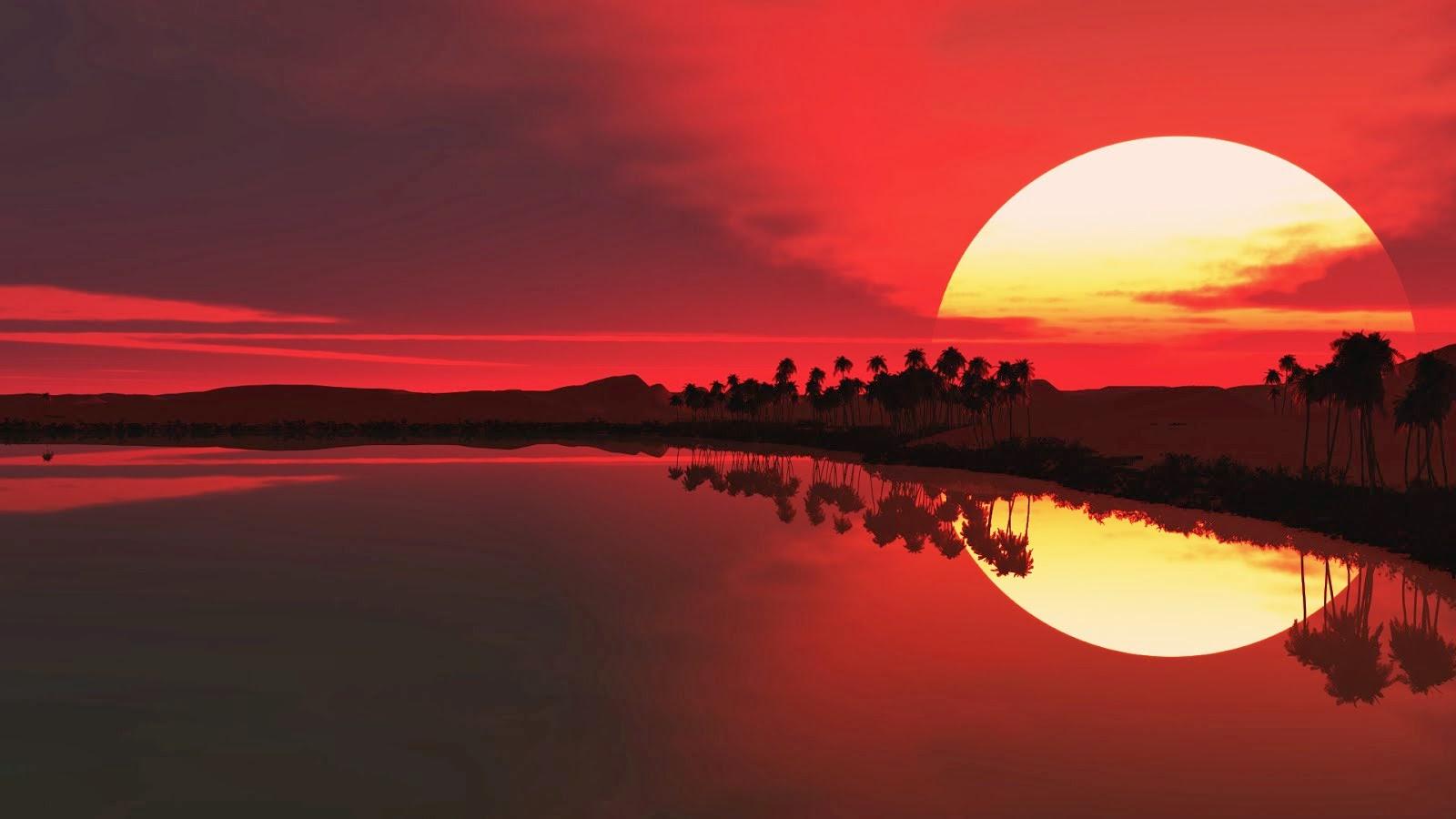 African Sunset high resolution