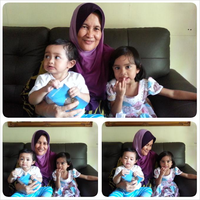 Beraya ke rumah babysitter kakak Imani dan kawan lama ibu