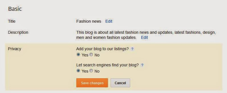 Search engine friendly options for blogspot blogs