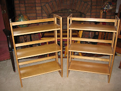 Folding and Stackable Book Shelves
