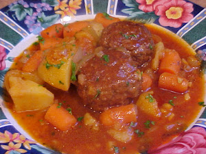 Brais de boulettes anglaises aux lgumes
