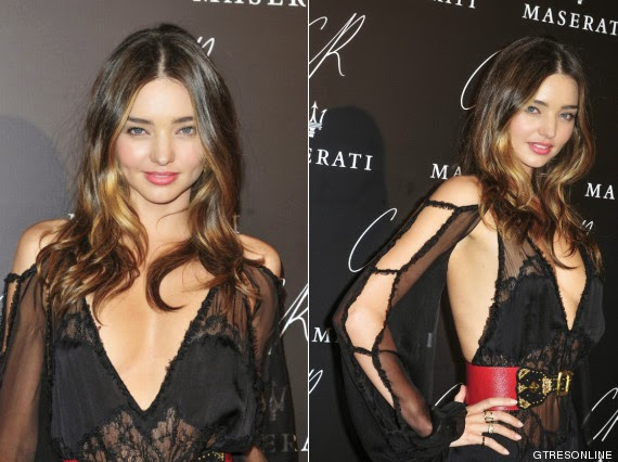 Miranda Kerr Black Party in Paris