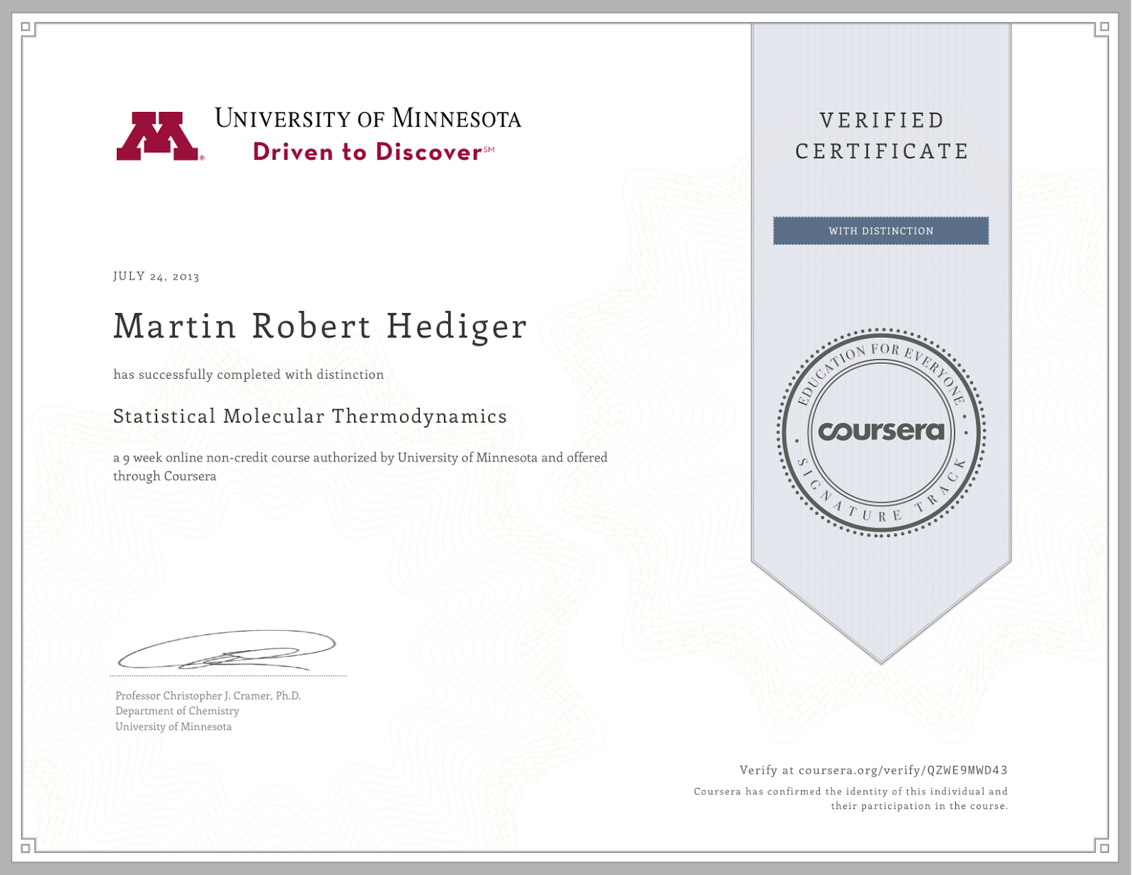 Qmviews Coursera Certificate