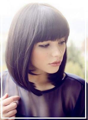 Model rambut wanita blunt bob berponi 2016 10447865