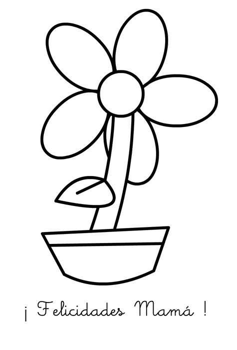 Una flor con sus partes para pintar - Imagui