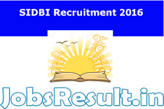 SIDBI Recruitment 2016