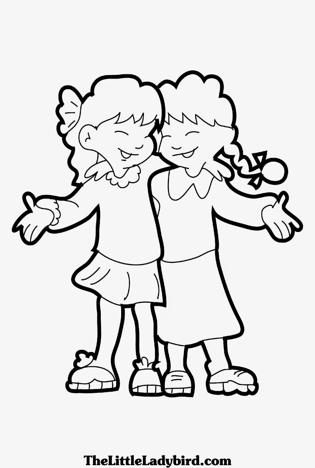 best friend colouring in pages best friend coloring pages