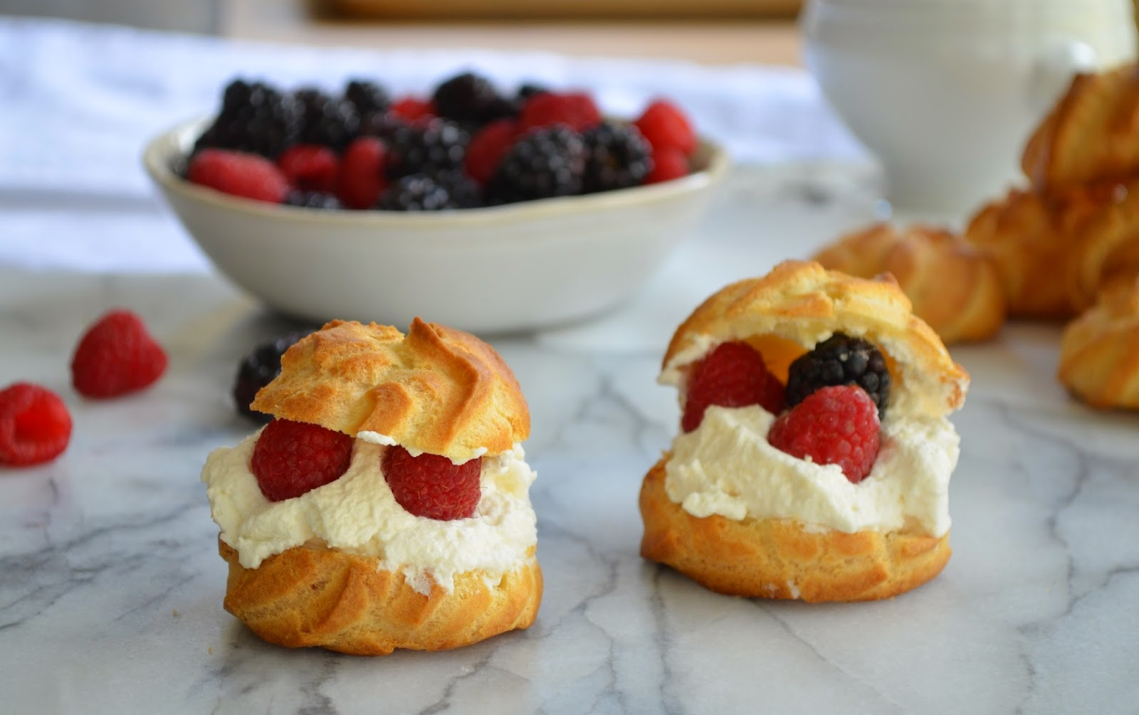 Cream Puffs and Berries - Smell of Rosemary.