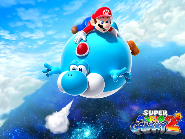 super mario galaxy 2 air balloon yoshi blue