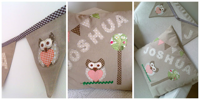 Personalised Baby Bunting & Cushion