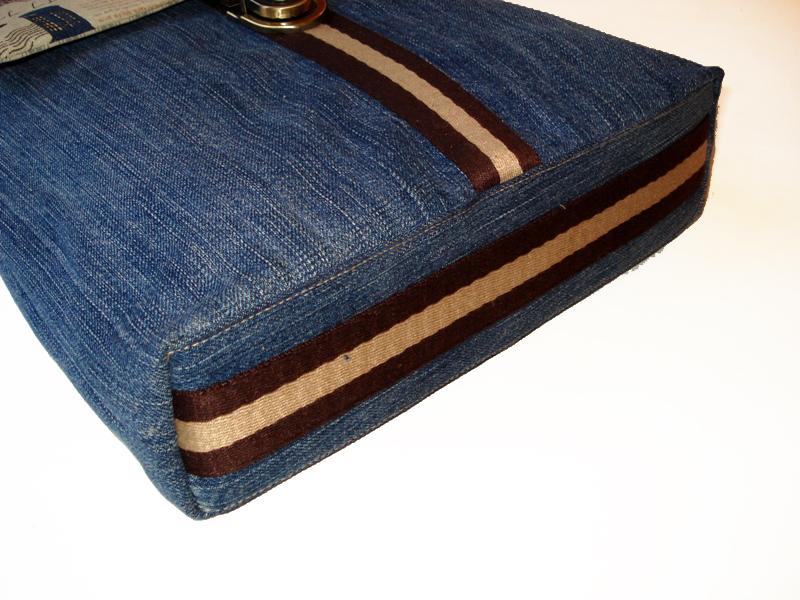 Джинсовая сумка мужская