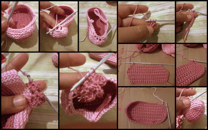 Crochet Tutorial Zapatitos Bebe Escarpines : Zapatitos de crochet: Tutorial Un detalle hace la diferencia