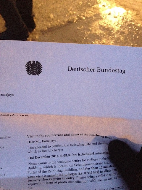 Jalan-Jalan di Berlin, Jerman-6 reichstag invitation